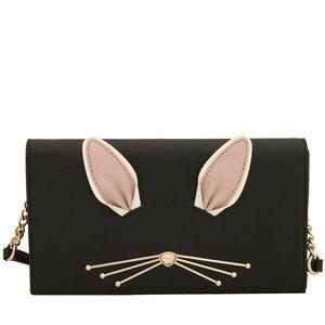 Kate Spade Black Bunny Rabbit Crossbody Clutch